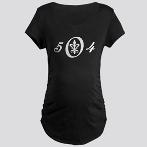 Fleur 504 (white) Maternity Dark T-Shirt