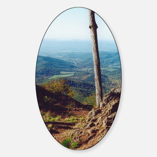 Skyline Drive Valley View Oval Decal