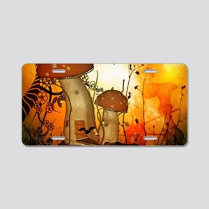 The fairy house in the night Aluminum License Plat