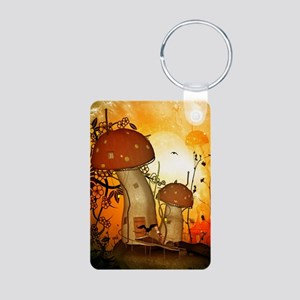 The fairy house in the night Keychains