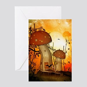 The fairy house in the night Greeting Cards