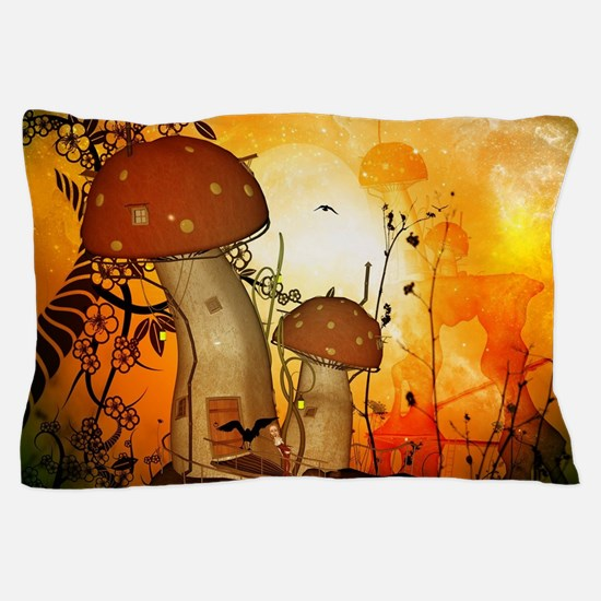 The fairy house in the night Pillow Case