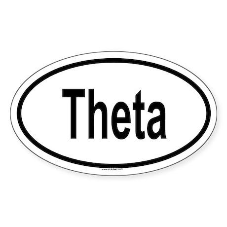 THETA Oval Sticker