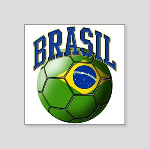 Flag of Brasil Soccer Ball Sticker