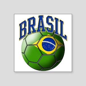 Flag of Brasil Soccer Ball Sticker