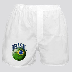 Flag of Brasil Soccer Ball Boxer Shorts