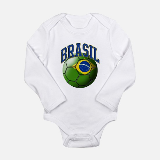 Flag of Brasil Soccer Ball Body Suit