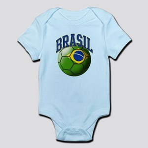 Flag of Brasil Soccer Ball Body Suit