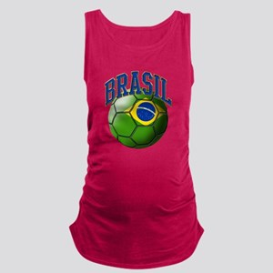 Flag of Brasil Soccer Ball Tank Top