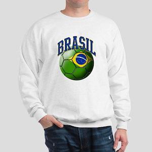 Flag of Brasil Soccer Ball Sweatshirt