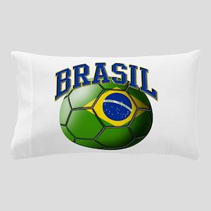 Flag of Brasil Soccer Ball Pillow Case