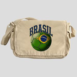 Flag of Brasil Soccer Ball Messenger Bag