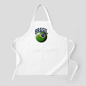 Flag of Brasil Soccer Ball Apron