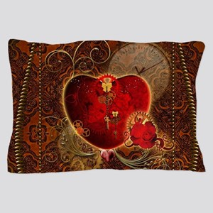 Wonderful steampunk heart with clocks and gears in