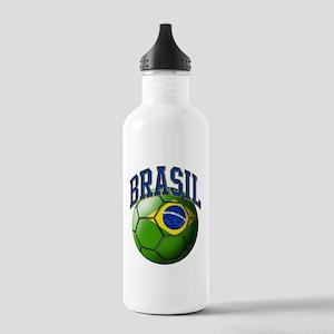 Flag of Brasil Soccer Stainless Water Bottle 1.0L