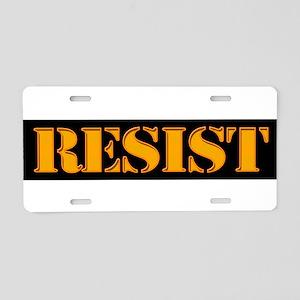 RESIST. Aluminum License Plate