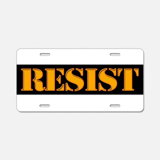 RESIST. Aluminum License Plate