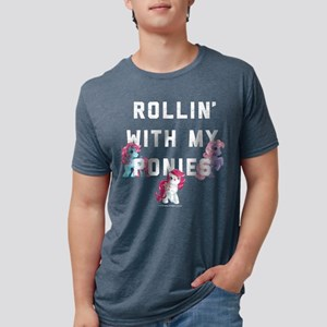 My Little Pony Rollin With Mens Tri-blend T-Shirt