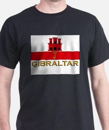 Flag of Gibraltar Ash Grey T-Shirt
