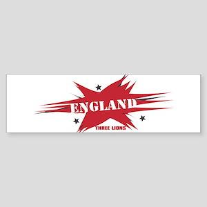 ENGLAND THREE LIONS Bumper Sticker
