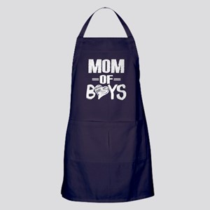 Mom Of Boys T Shirt Apron (dark)