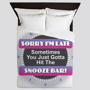 Sorry I'm Late - Snooze Bar Queen Duvet