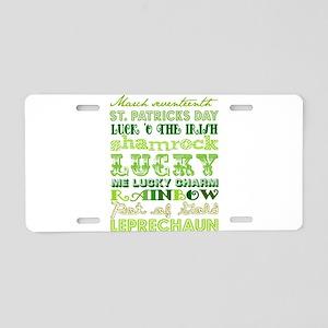 St. Patrick Day Aluminum License Plate