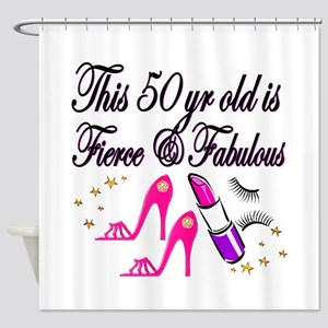 HAPPY 50TH Shower Curtain