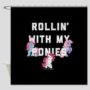My Little Pony Rollin With My Ponie Shower Curtain