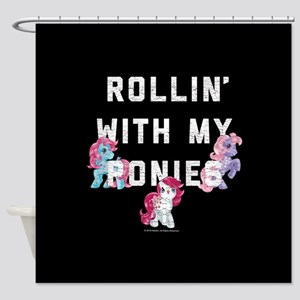 My Little Pony Rollin With Ponie Shower Curtain