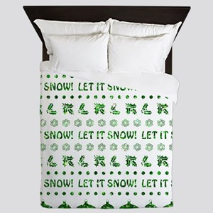 LET IT SNOW - GLITTER Queen Duvet