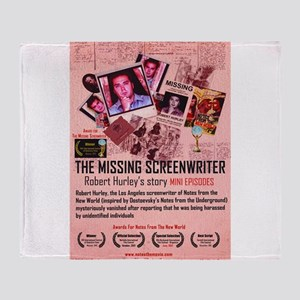 Movie Poster - The Missing Screenwriter Throw Blan