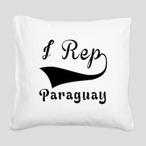 I Rep Peruguay Square Canvas Pillow