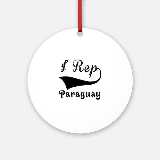 I Rep Peruguay Round Ornament