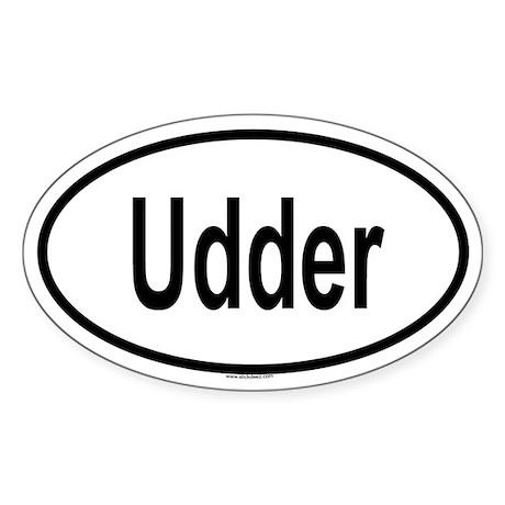 UDDER Oval Sticker