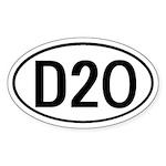 D20 D 20 D & D Oval Sticker