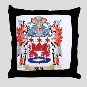 Neal Coat of Arms - Family Crest Throw Pillow