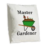 Master Gardener Burlap Throw Pillow