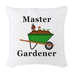 Master Gardener Woven Throw Pillow
