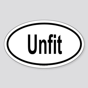 UNFIT Oval Sticker