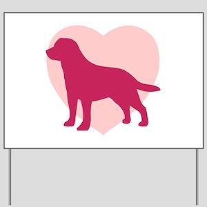 Labrador Retriever Valentine's Day Yard Sign