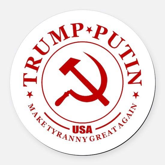 Trump Putin Round Car Magnet