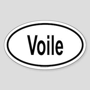 VOILE Oval Sticker