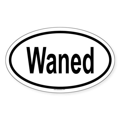 WANED Oval Sticker
