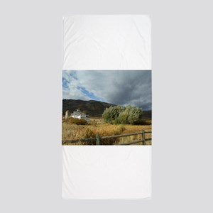 Favorite Barn and Tree Photo by LH Beach Towel