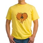 Valentine Wanted (Female) Yellow T-Shirt
