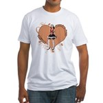 Valentine Wanted (Female) Fitted T-Shirt