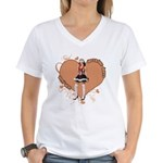 Valentine Wanted (Female) Women's V-Neck T-Shirt