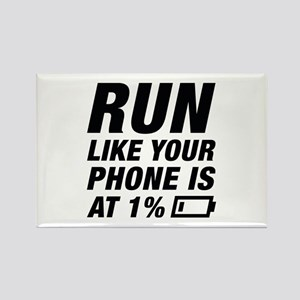 Run Like Your Phone Rectangle Magnet