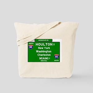I95 - INTERSTATE 95 - HOULTON MA - MIAMI Tote Bag